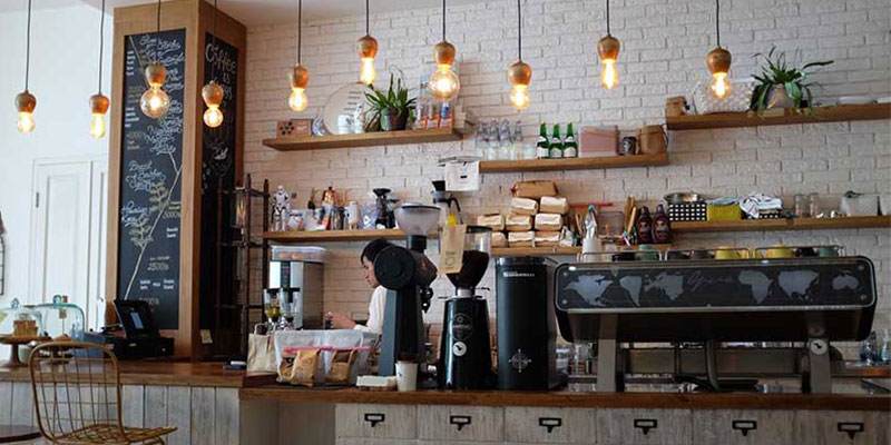 Coffee shop equipment and machinery insured with breakdown coverage