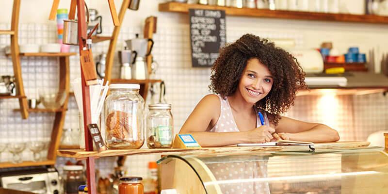 Employee in coffee shop