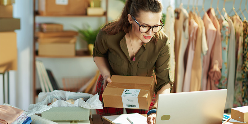 Home-based business online clothing store